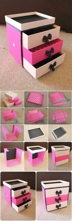59 Ideas Diy Makeup Storage Box Nail Polish For 2019 Diy Makeup Storage, Make Up Storage, Craft Storage, Storage Ideas, Shoe Storage, Makeup Box Diy, Paper Storage, Makeup Display, Diy Storage Boxes