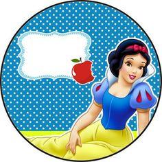 KIT FESTA - BRANCA DE NEVE     Cachepô      Capa para pirulito         … Snow White Characters, Disney Frames, Snow White Birthday, Snow White Disney, Prince Party, Disney Background, Autism Activities, Baby Shower Parties, Party Themes
