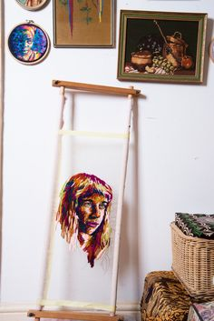 The Danielle Clough brings T into her Cape Town studio, where she decorates everything from coffee filters to vintage athletic rackets. T Magazine, 28 Years Old, Coffee Filters, Rackets, Embroidery Art, Cape Town, Ladder Decor, Art Projects, Bring It On
