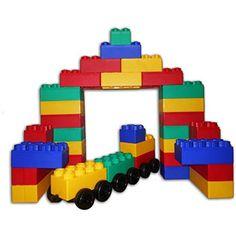 Kids Adventure Jumbo Blocks with Wheels 60-piece Train Set - Brought to you by Avarsha.com