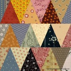 Moore About Nancy: A Thousand Pyramids quilt block