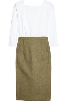 Carven cotton and wool-tweed dress