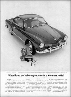 VW Karmann Ghia Type 14 Classic Showroom Advertising Car Picture Poster Print