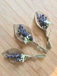 Lavender and Gypsophila buttonhole, rustic wedding Floral Wedding, Wedding Bouquets, Rustic Wedding, Wedding Flowers, Dried Lavender Wedding, Lavender Crafts, Wedding Types, Deco Floral, Buttonholes