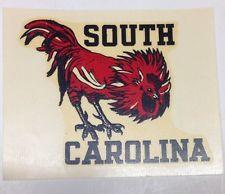 Vintage South Carolina Gamecocks College University Angelus Water Decal Sticker
