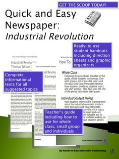 industrial revolution newspaper editorial Industrial revolution: industrial revolution, in modern history, the process of change from an agrarian and handicraft economy to one dominated by industry and machine manufacturing.