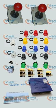 83.00$  Buy now - http://alihrv.worldwells.pw/go.php?t=32274131696 - Arcade parts Bundles with 619 in 1 game elf long shaft Joystick Silver coin credit button American style buttons with switch 83.00$