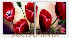 Tulipani rossi #handmade #paint #madeinitaly #italia #colore #flowers #nature