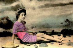 Geisha Swimsuit 3 Rare Vintage Swimsuit Photos Of Geisha