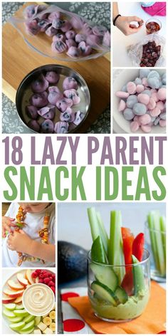 18 Lazy Snack Ideas