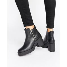 Mango Zip Detail Chunky Ankle Boot (6,050 PHP) ❤ liked on Polyvore featuring shoes, boots, ankle booties, black, black ankle booties, black platform boots, ankle boots, chunky-heel ankle boots and black booties