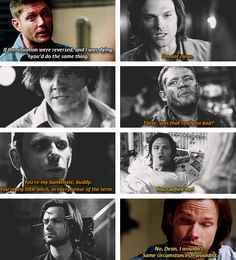 """(gif set) """"Same circumstances, I wouldn't."""" 