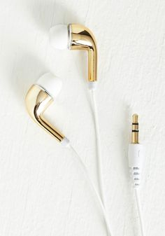 gold ear buds / modcloth