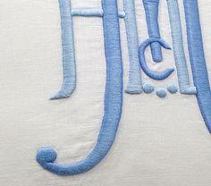 two-tone monogram.