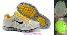 Girls Nike Air Max 2011 Platnum/Anthrct/Lemon Frost/White Sneakers