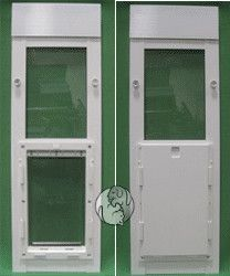 The Ideal Flexible Flap Side Sliding Window Pet Door Insert Features An  Aluminum Frame And The