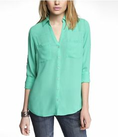 THE CONVERTIBLE SLEEVE PORTOFINO SHIRT | Express XS