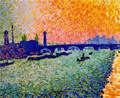 The Bridge, view on the river - Andre Derain 1905 Fauvism
