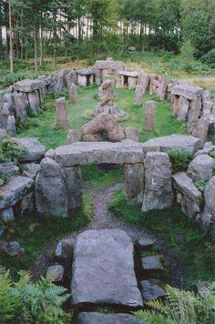 Temple de druides , dans le Yorkshire nord , Angleterre .