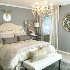 This will be mine soon! Except a different item above headboard