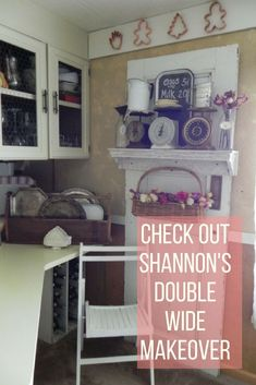 What a makeover. Mobile Home Living, Home And Living, Mobile Home Makeovers, Home Remodeling, Shabby Chic, Mobile Homes, Campers, House Ideas, Inspiration