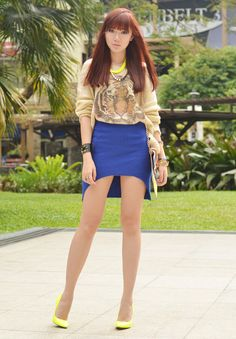 itscamilleco.com2013030701 Camille Co, Philippines Fashion, Conservative Outfits, Shirt Skirt, Big Hair, Mini Skirts, Mini Dresses, Sexy Legs
