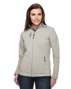 Womens Full zip Dobby jacket 96% polyester 4% Spandex JL6205 Bonney #zipper #fresh #amusthave