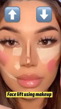 Face Makeup Tips, Makeup Eye Looks, Contour Makeup, Cute Makeup, Skin Makeup, Eyeshadow Makeup, Simple Makeup Looks, How To Do Makeup, Natural Makeup Looks
