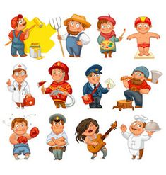 Find Professions Builder Painter Rocker Woodcutter Swimmer stock images in HD and millions of other royalty-free stock photos, illustrations and vectors in the Shutterstock collection. Painting For Kids, Drawing For Kids, Cat Vector, Vector Free, International Children's Day, Superhero Kids, Butterfly Life Cycle, English Games, Kids Background