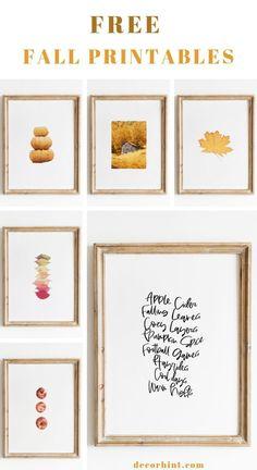 Thanksgiving Prints, Fall Signs, Autumn Art, Fall Home Decor, Free Prints, Spring Crafts, Fall Halloween, Printable Wall Art, Free Printables