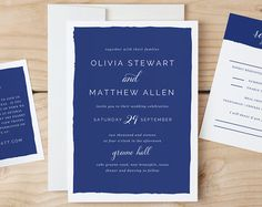 Printable Wedding Invitation Template Simple by SwellAndGrand