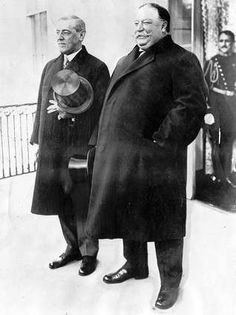 Woodrow Wilson  (AP photo)  William Howard Taft (right) stands with his successor, President Woodrow Wilson, on Wilson's inauguration day, March 4, 1913.