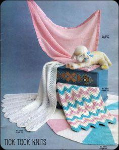 chevron knit blanket