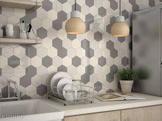 Scale Collection Mosaic. HEXAGON (de Equipe Ceramicas)
