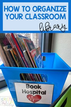 School Library Decor, Elementary School Library, Class Library, Library Ideas, Classroom Library Labels, Classroom Calendar, Classroom Decor, First Grade Organization, Library Organization