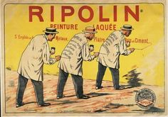 An image of the Ripolin advertising mural, which can be found on the wall of No. 10 rue des Martys.