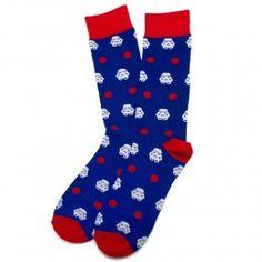 Storm Trooper Dot Socks