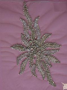 1 Swarovski Crystal Embroidery  Vanda by allysonjames on Etsy, $198.98