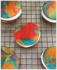 Rainbow vanilla whoopie pie recipe