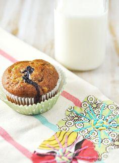 Blueberry Zucchini Chia Muffins via @Jennifer Leal
