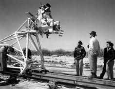 rocket sled tester Edwards Air Force Base.....the early years