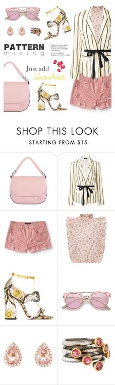 """""""Just add sunshine"""" by pensivepeacock ❤ liked on Polyvore featuring Louis Vuitton, Roberto Collina, Aéropostale, Gucci, Gurhan, patternmix and patternmatch"""