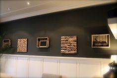 Interieurideeën | Zelfgemaakte wanddecoratie van fruitbomenhout. Door SuzandG