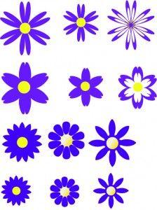 free moldes de flores em formato pdf