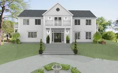 The White Dream Farm: A New New England House in Djursholm New England Hus, England Houses, White Brick Houses, Modern Colonial, American Houses, Sims House, House Goals, Home Fashion, Future House