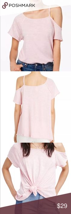 """NWT we the free / free people open shoulder tee Very cute new top with cutout shoulder. Modal blend.  Bust 20.5"""" Length 26"""" Free People Tops Tees - Short Sleeve"""