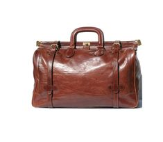 Roasted Coffee Brown ITALY ALDO RAFFA His or Hers Leather Travel Bag. $398.00, via Etsy.