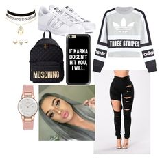 A fashion look from November 2017 featuring adidas originals sweatshirt, super skinny jeans and tennis sneakers. Browse and shop related looks. Tennis Sneakers, Super Skinny Jeans, Citizen, Charlotte Russe, Moschino, Adidas Originals, Polyvore Fashion, Fashion Looks, Sweatshirts
