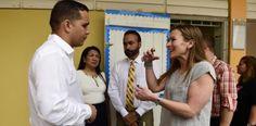 Visita sorpresa de secretaria de Educación durante primer día de...