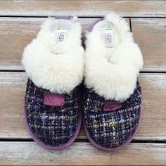 Purple UGG Womans Slippers Excellent condition! Worn a couple of times. Ships Immediately. UGG Shoes Slippers